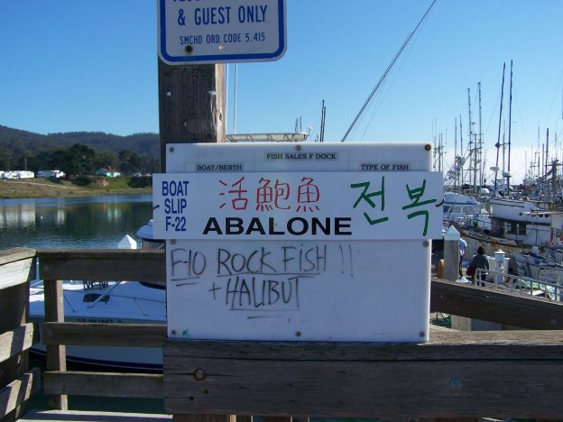 This is the sign on the docks that pointed us toward our adventure.