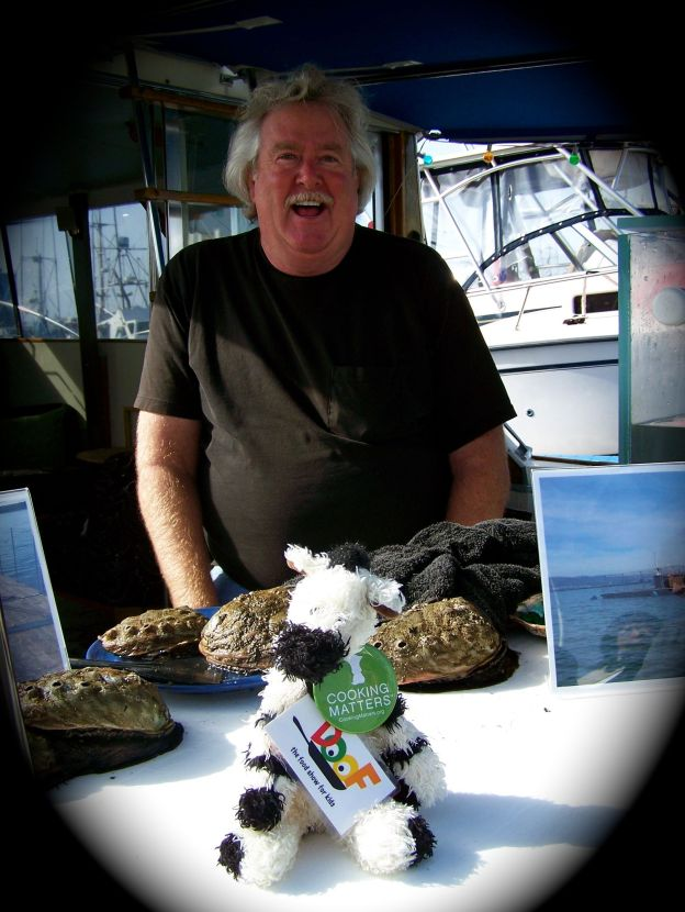 Doug cares a LOT about sustainably farmed abalone – and so do I!