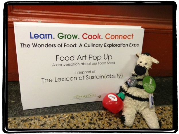 Food Art Pop-Up - Lexicon of Sustainability - Framed ZeBot