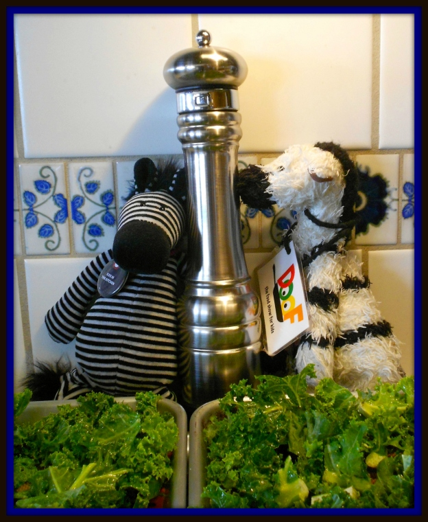 Zebras love snacks with a little zip – so we thought pepper would be good, too!