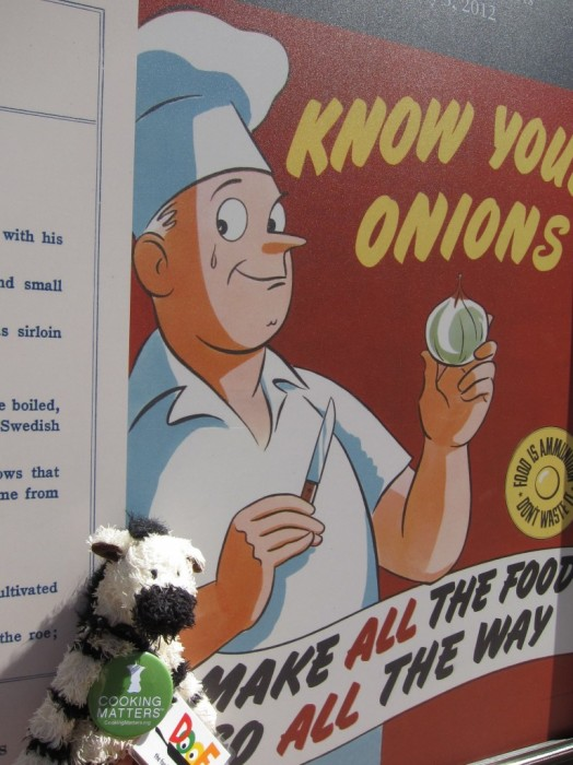 "ZeBot explores the history of food in the USA at the ""What's Cooking, Uncle Sam"" exhibit at the National Archives in Washington D.C."