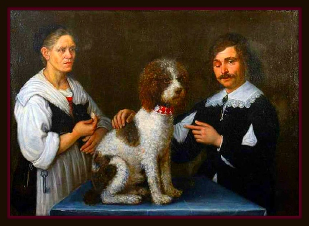 This is a painting of one of Rico's ancestors by the famous Italian artist, Guercino.