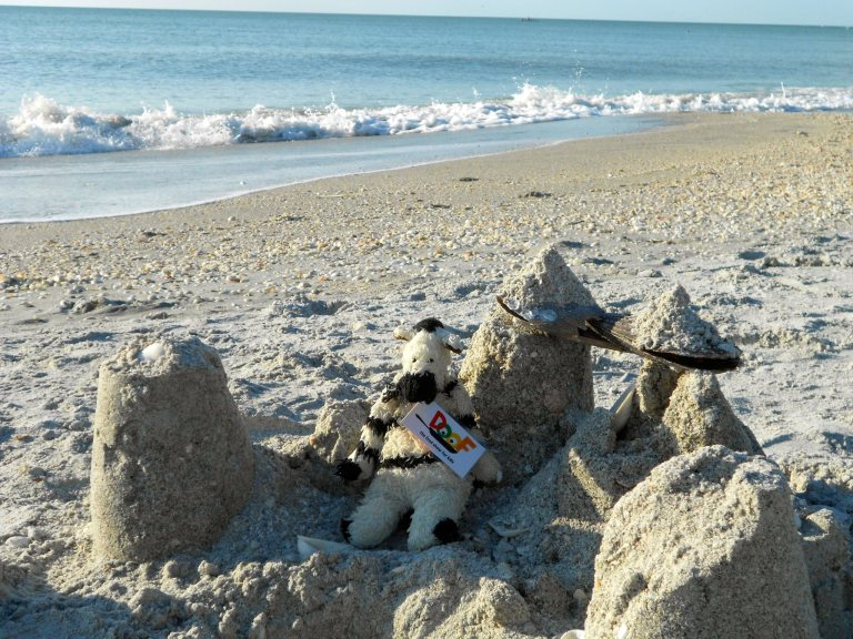 Here's the sandcastle that Julia's story built!