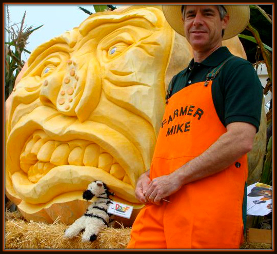 My friend Farmer Mike gets creative with pumpkins in a BIG way!