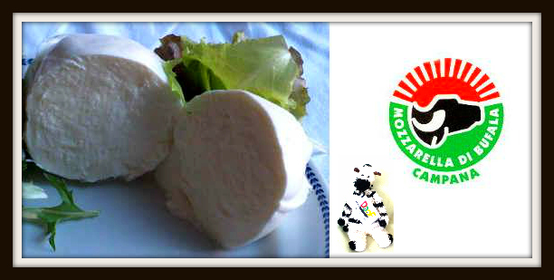 In Italy, mozzarella di bufala has its own special symbol to show it's authentic.