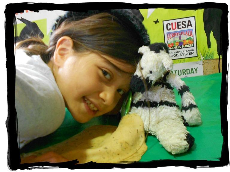 ZeBot & Jessica with CUESA Logo