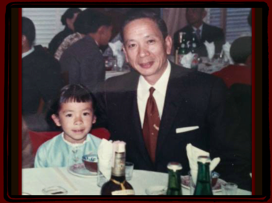 This is Grace as a little girl, with her dad, Baba (Delwyn Wah Yen Young).