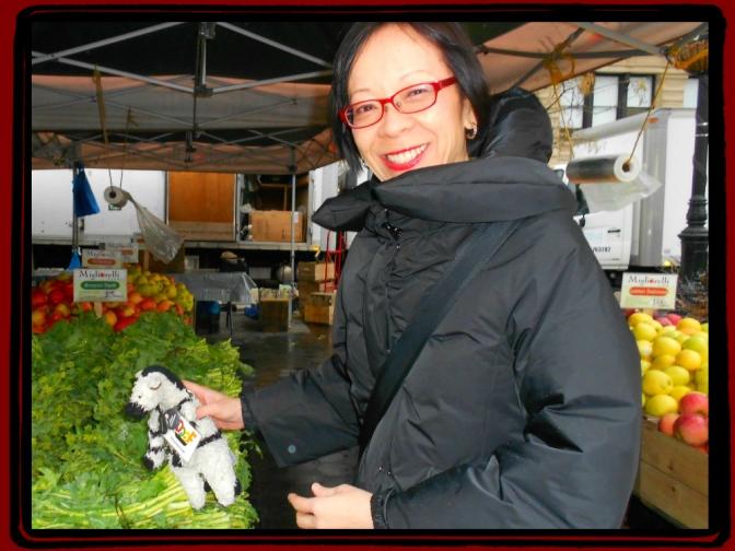 Grace & ZeBot @ NY Farmers' Market