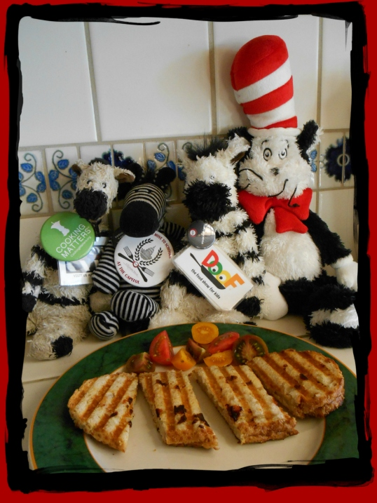 ZeBot, Zebras & Cat in the Hat wGrilled Cheese