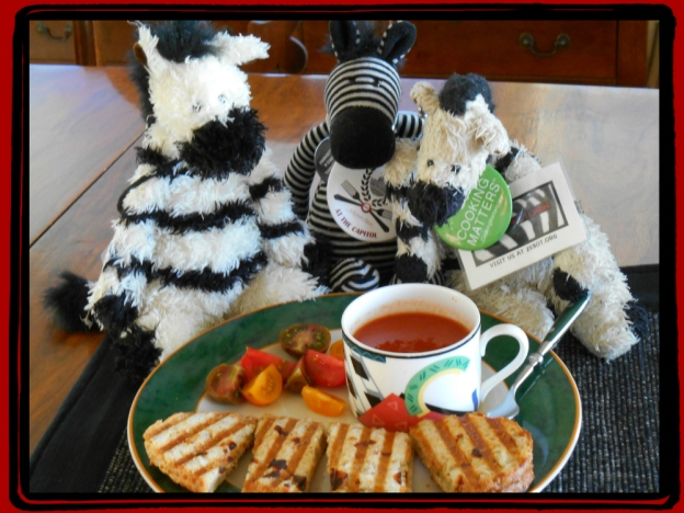 ZeBot & Zebras wGrilled Cheese + Tomato Soup