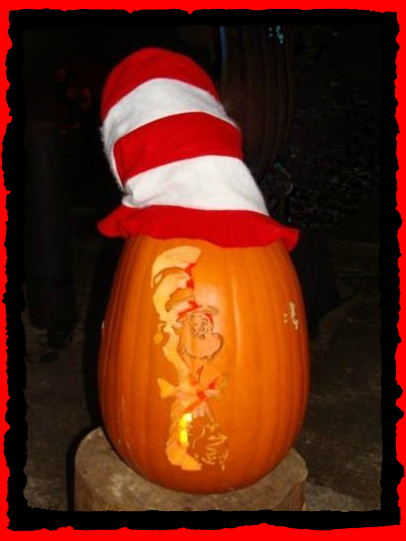 Cat-in-the-Hat Witch Pumpkin