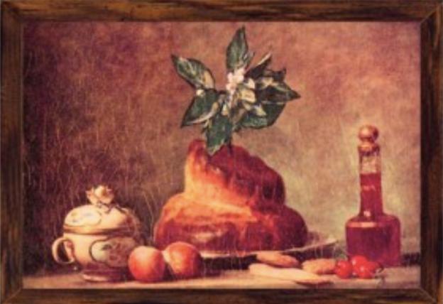Brioche by Chardin, 1763